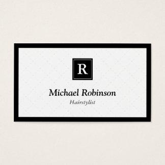 Hairstylist - Simple Elegant Monogram Business Card
