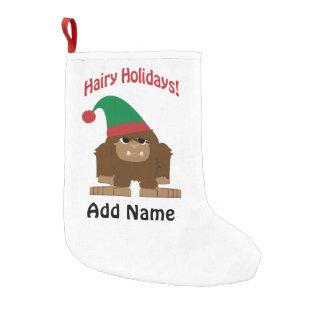 Hairy Holidays! Christmas Sasquatch Small Christmas Stocking