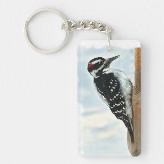 Hairy Woodpecker Keychain