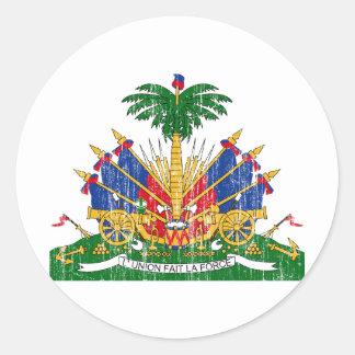 Haiti Coat Of Arms Classic Round Sticker