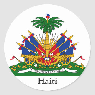 haiti emblem classic round sticker
