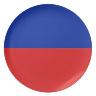 Haiti Fisheye Flag Plate