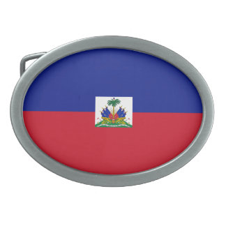 Haiti Flag Belt Buckle