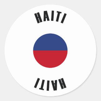 Haiti Flag Simple Classic Round Sticker