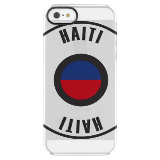 Haiti Flag Simple Clear iPhone SE/5/5s Case