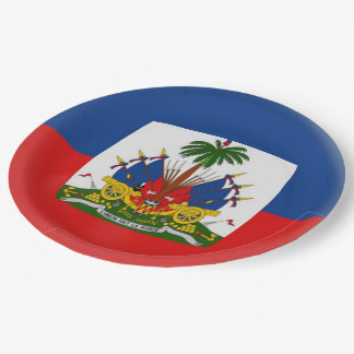 Haiti Haitian Flag Paper Plate