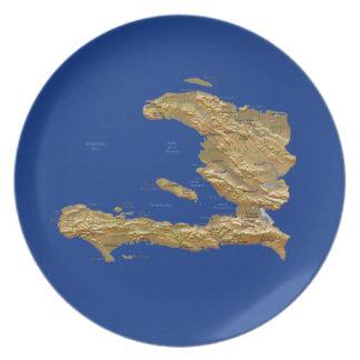 Haiti Map Plate