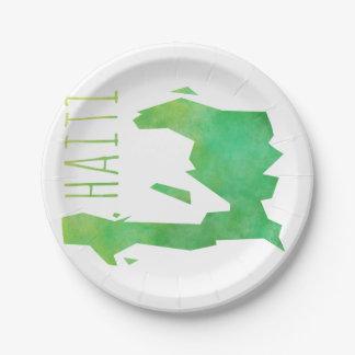 Haiti Paper Plate