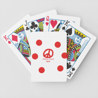 Haitian Creole Language And Peace Symbol Design Bicycle Playing Cards