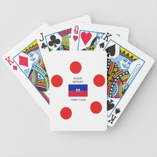 Haitian Flag And Creole Language Design Bicycle Playing Cards