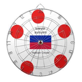 Haitian Flag And Creole Language Design Dartboard