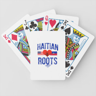 Haitian flag designs bicycle playing cards