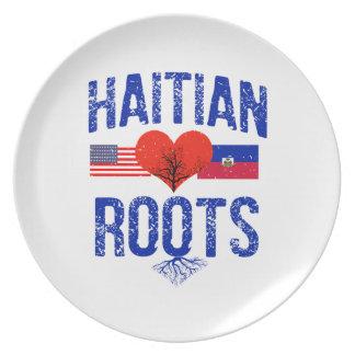 Haitian flag designs plate