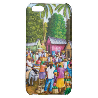 Haitian Market Place Print Cover For iPhone 5C