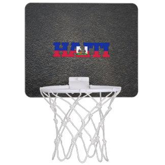 Haitian name and flag mini basketball hoop