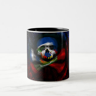 Haitian Pirate Flag Two-Tone Mug