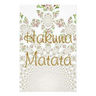 Hakuna Matata Designer Personalized Stationary Stationery