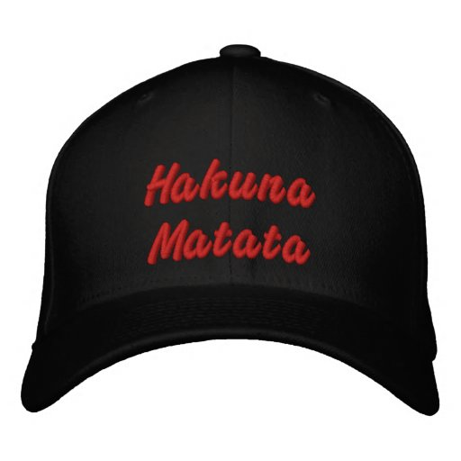 Hakuna  Matata Embroidered Baseball Caps