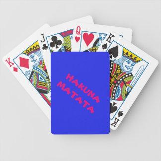 Hakuna Matata Poker Playing Cards