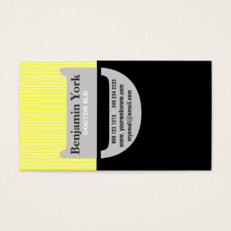 Half Black & Other Yellow Urban Professional  D Business Card