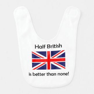 Half British Baby Bib