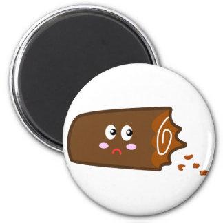 Half Eaten Chocolate Log Magnet