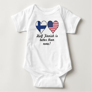 Half Finnish Is Better Than None Baby Bodysuit