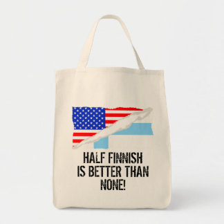 Half Finnish Is Better Than None Grocery Tote Bag