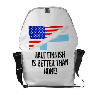 Half Finnish Is Better Than None Messenger Bags