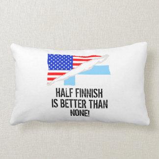 Half Finnish Is Better Than None Throw Cushions