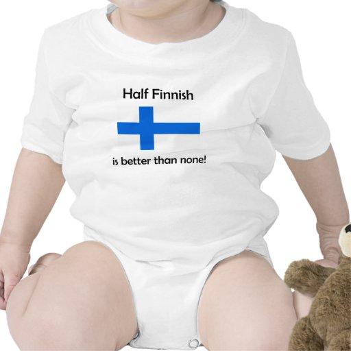 Half Finnish Baby Bodysuits