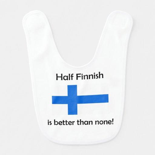 Half Finnish Baby Bib