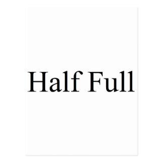 Half full post card