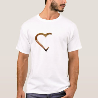 Half-Heart lom-sgriobta r' ar deidh T-Shirt