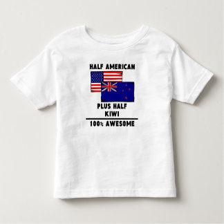 Half Kiwi 100% Awesome Toddler T-Shirt