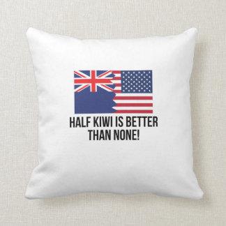 Half Kiwi Is Better Than None Throw Pillow