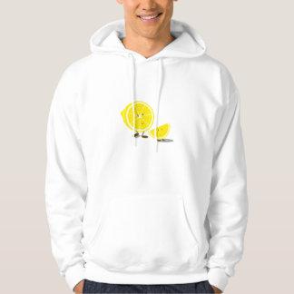 Half lemon and smiling lemon slice hoodie