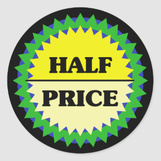 HALF-PRICE Retail Sale Sticker