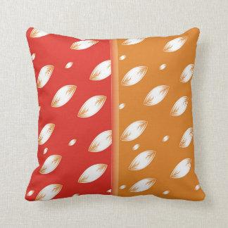 Half red, half orange throw pillow