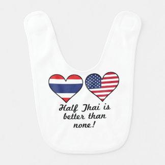 Half Thai Is Better Than None Bib