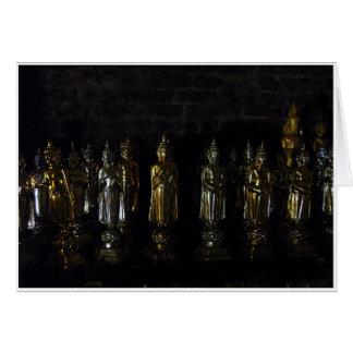 Halflight Buddhas Card