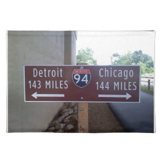 Halfway Point, Detroit Chicago. Placemat