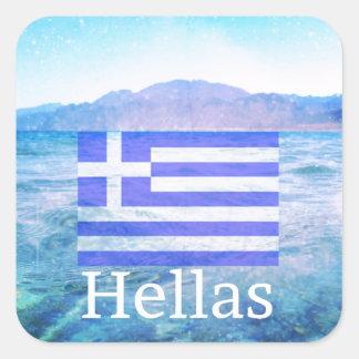 Hallas Square Sticker