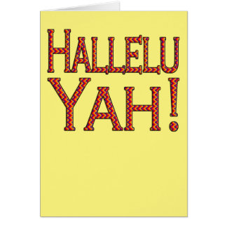 Hallelu Yah! (party on yellow) easter card