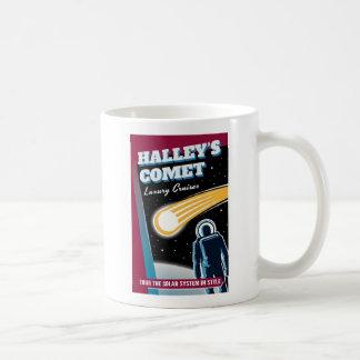 Halleys Comet Space Cruise Illustration Basic White Mug