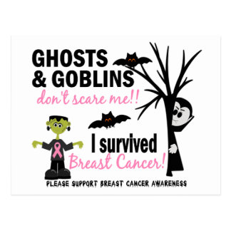 Halloween 1 Breast Cancer Survivor Postcards