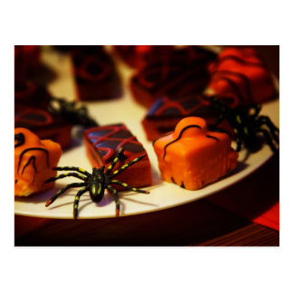 Halloween Baked Treats and Spiders Post Cards
