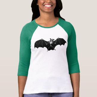 Halloween bat skeleton shirt