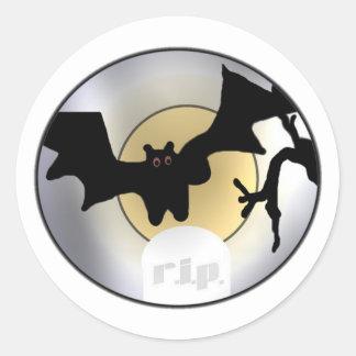 Halloween Bats RIP Round Sticker