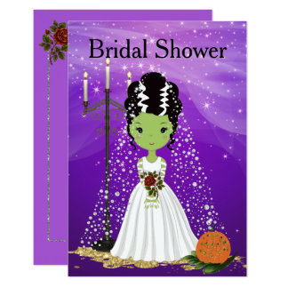 Halloween Bridal Shower Invitation Frankenstein